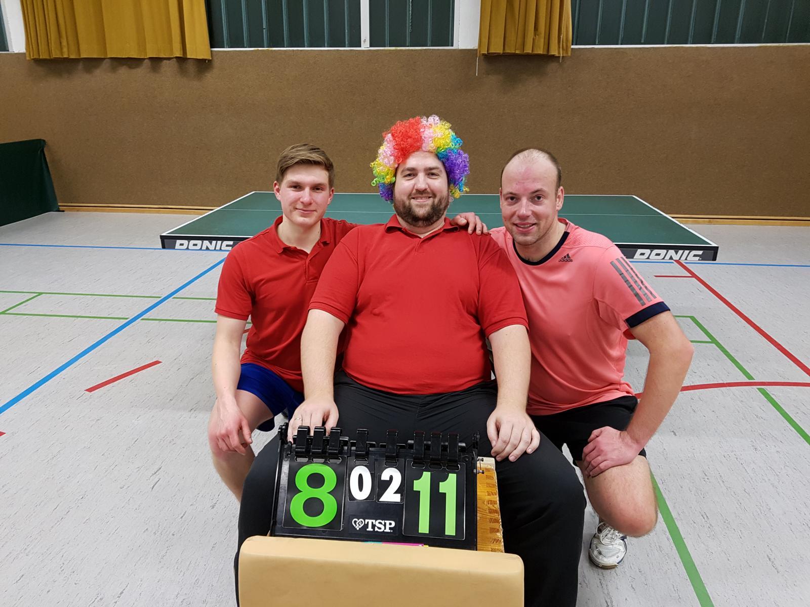 Erfolgreiche Marienloher Turniercrew: (v.l.) Dominik Fischer, Igor Berger, Jens Burre